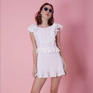 For Love and Lemons Starry Eyed white dress